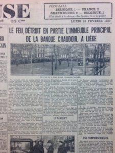 """Journal """"La Meuse"""" du 10 février 1930"""