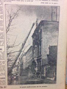 Incendie banque Chaudoir 9 février 1930